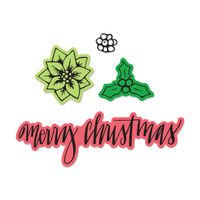 Sizzix Mini Framelits Dies Set with Stamps By Jen Long - Merry Christmas #2