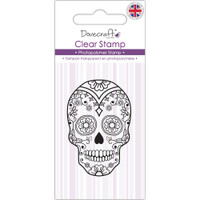 TrimCraft Dovecraft Clear Stamp - Sugar Skull