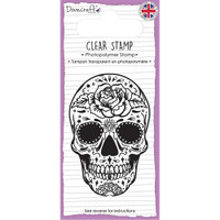 TrimCraft Dovecraft Clear Stamp - Skull & Rose
