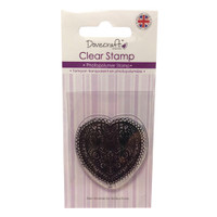 TrimCraft Dovecraft Clear Stamp - Doily Heart