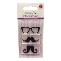 TrimCraft Dovecraft Clear Stamp - Moustache & Glasses