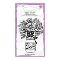 TrimCraft Dovecraft Clear Stamp - Flower