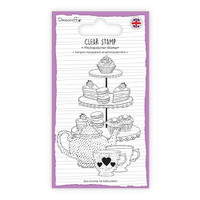 TrimCraft Dovecraft Clear Stamp - Afternoon Tea