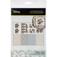 Disney A5 Scene Building Pad 32 Sheets, 8 Designs/4 Each - Vintage Mickey