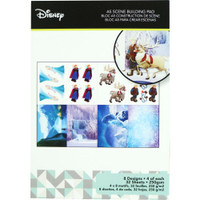 Disney A5 Scene Building Pad 32 Sheets, 8 Designs/4 Each - Frozen