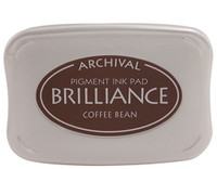 Brilliance Pigment Ink Pad - Coffee Bean