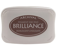 Brilliance Pigment Ink Pad - Pearlescent Chocolate