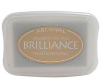 Brilliance Pigment Ink Pad - Pearlescent Beige