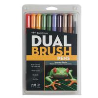 Tombow Dual Brush Pen Set, Secondary, 10PK