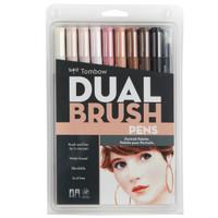 Tombow Dual Brush Pen Set, Portrait, 10PK