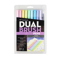 Tombow Dual Brush Pen Set, Pastel, 10PK