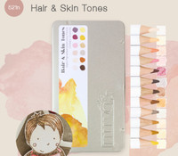 Tonic Studios Nuvo Watercolour Pencils, Set of 12- Hair & Skin Tones