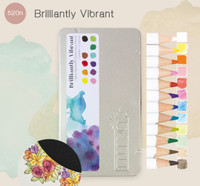 Tonic Studios Nuvo Watercolour Pencils, Set of 12- Brilliantly Vibrant