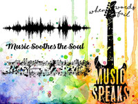 Visible Image Stamps - Music Speaks