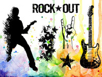 Visible Image Stamps - Rock Out