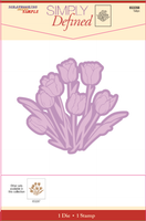Simply Defined Dies and Stamps Set - Tulips