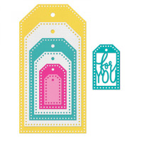 Sizzix Framelits Die Set 7PK  By Stephanie Barnard - Tags, Dotted