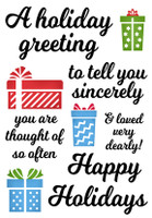 Inky Antics Clear Stamps - Holiday Greeting