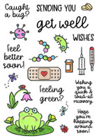 Inky Antics Clear Stamps - Feel Better Soon