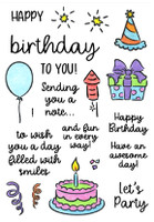 Inky Antics Clear Stamps - Birthday Smiles