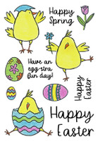Inky Antics Clear Stamps - Happy Chicks