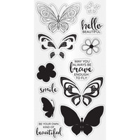 Hampton Art Clear Stamps  - Butterfly