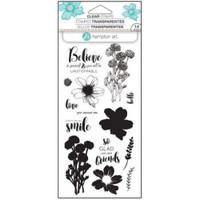 Hampton Art Clear Stamps  - Flower Believe