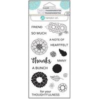 Hampton Art Clear Stamps  - Flower Thanks