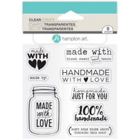 Hampton Art Clear Stamps  - Made With Love