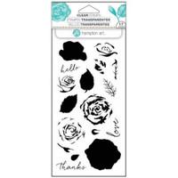 Hampton Art Clear Stamps  - Roses