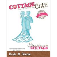 CottageCutz Elites Die - Bride & Groom