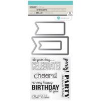 Hampton Art Stamp & Die Set - Birthday Banners