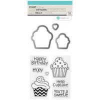 Hampton Art Stamp & Die Set - Cupcakes