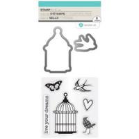 Hampton Art Stamp & Die Set - Live Your Dreams