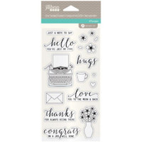 Hampton Art, Jillibean Soup Clear Stamps and Dies  - Just My Type