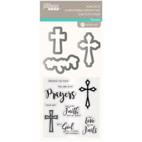 Hampton Art, Jillibean Soup Clear Stamps and Dies  - Prayers