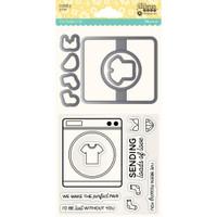 Hampton Art, Jillibean Soup Shaker Clear Stamps & Die Set - Laundry