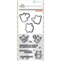Hampton Art, Mama Elephant Stamp & Die Set - Rock Monster
