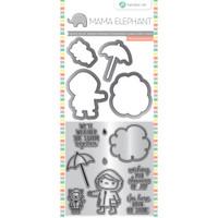 Hampton Art, Mama Elephant Stamp & Die Set - Showers Of Joy