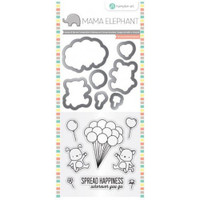 Hampton Art, Mama Elephant Stamp & Die Set - Up We Go