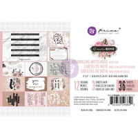 Prima Marketing, Amelia Rose Journaling Cards Pad - Rose Foiled Design #2