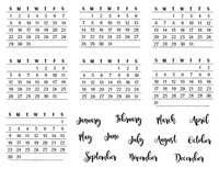 Darcie's Heart & Home - Calendar Clear Set