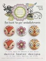 Darcie's Heart & Home Tin Pins - On My Mind