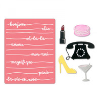 Sizzix Thinlits Die Set 5PK With Textured Impressions by Courtney Chilson - Bonjour Chic