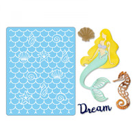 Sizzix Thinlits Die Set 4PK With Textured Impressions by Jen Long - Dream Mermaid