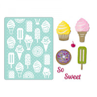 Sizzix Thinlits Die Set 10PK With Textured Impressions by Courtney Chilson - Sweet Treats