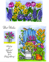 Northwoods Rubber Cling Stamps - Adirondack Chair & Floral Border