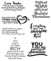 Simply Defined March 2018 Release Inspirational Sentiment Stamp Set - True Companion Collection - Life's Journey  (Not Part of the Bundle)