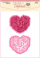 Simply Defined March 2018 Release Dies and Stamps Set - Rosey Heart