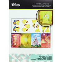 Disney A5 Scene Building Pad 32 Sheets, 8 Designs/4 Each - Belle